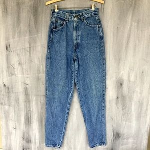 CHIC High Waisted Tapered Mom Distressed Jeans 26